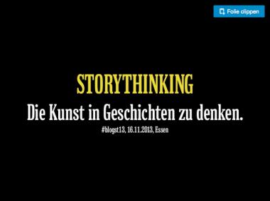Coole Präsentation von Christian Riedel zum Thema Storytelling
